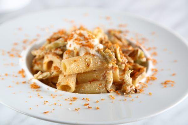 Rigatoni Recipe with Fresh Artichokes and Ricotta Cheese