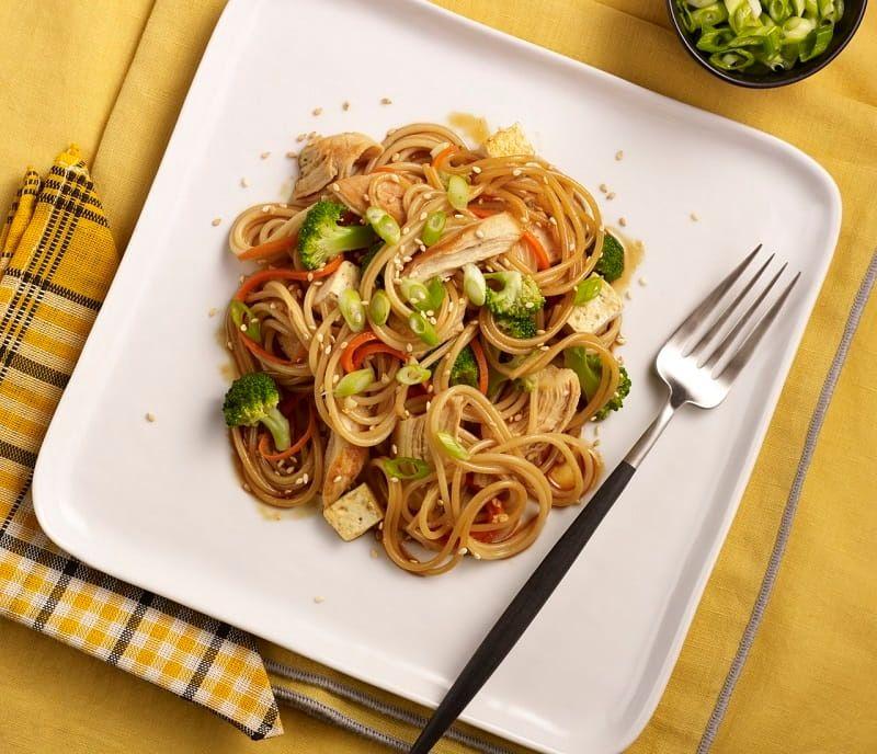 Spaghetti Chicken Teriyaki Pasta Stir Fry Recipe