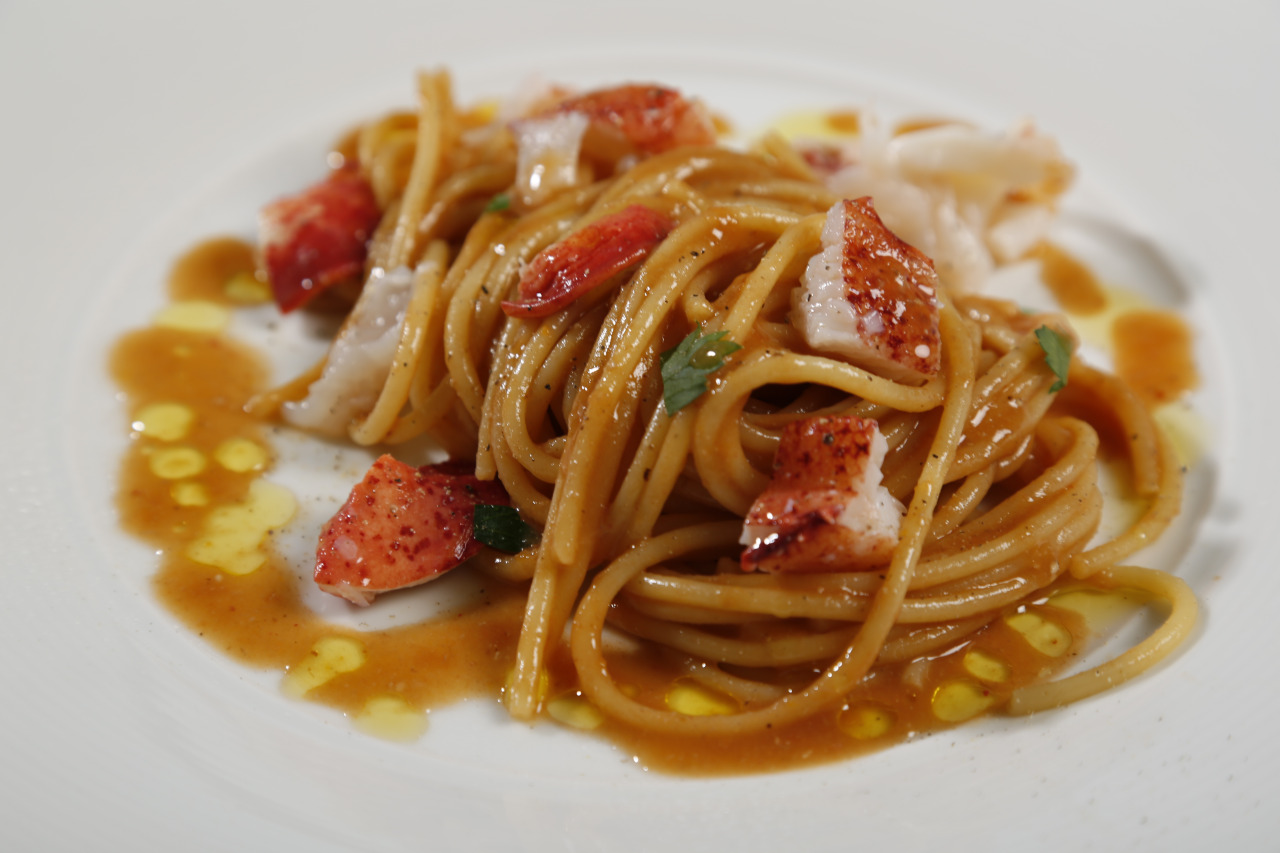 Spaghetti with Lobster and Marsala Wine Sauce