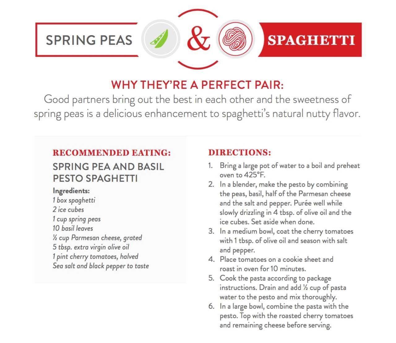Spring Peas and Spaghetti