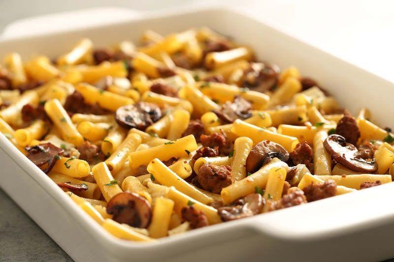 Turkey Mushroom Marsala Baked Ziti