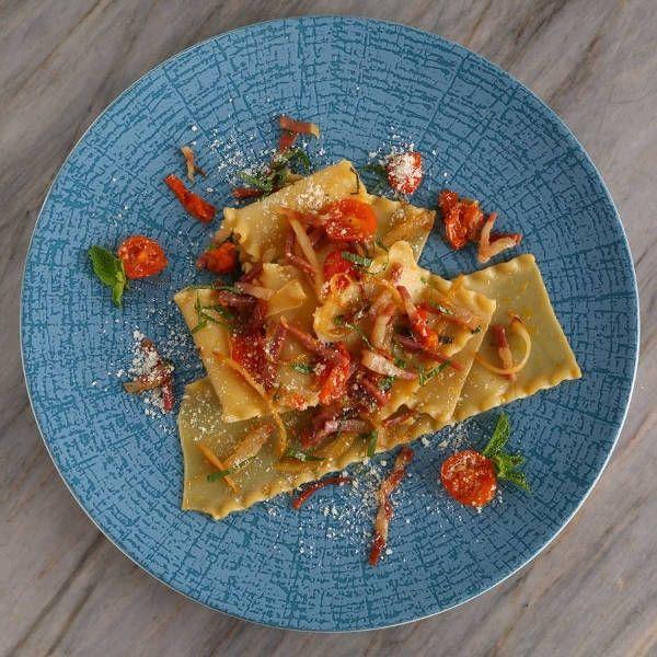 No-Bake Lasagna Recipe with Prosciutto, Vidalia Onion & Mint