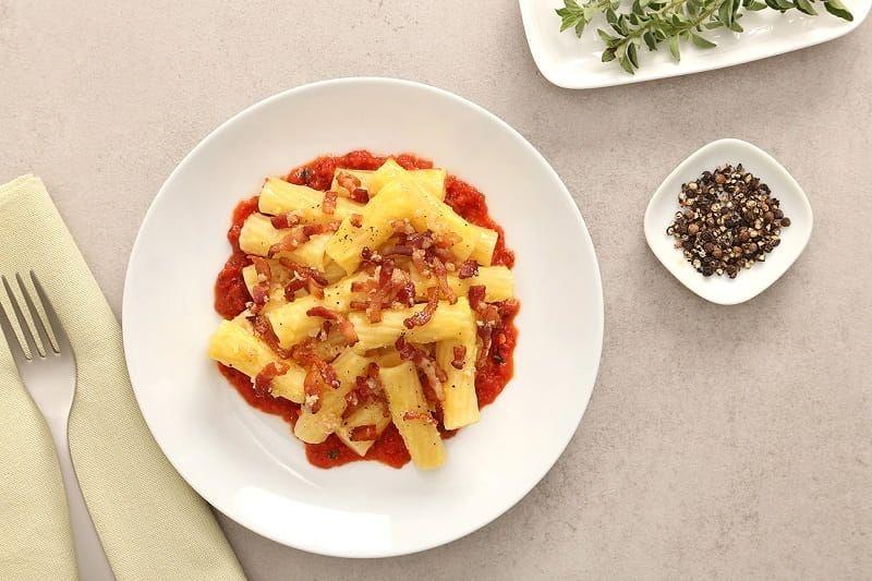 Rigatoni Carbonara Recipe with Calabrian Chili Sauce