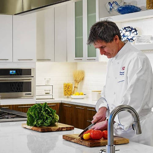Chef Lorenzo in the Barilla kitchen
