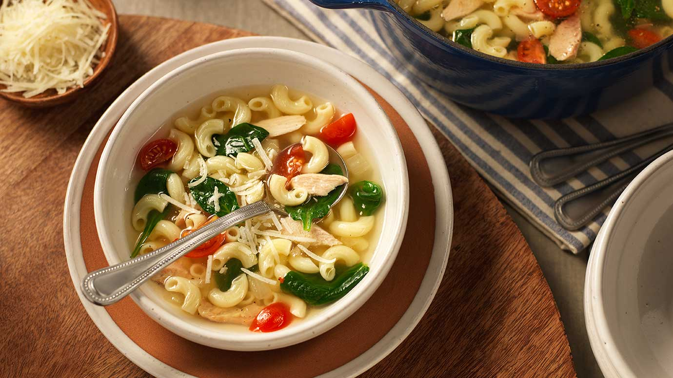 Barilla pasta with soup