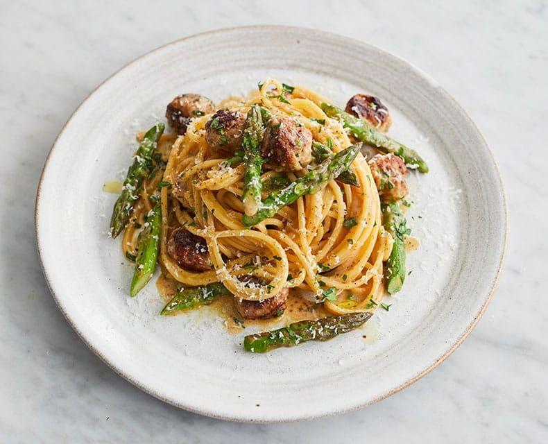 Jamie Oliver Barilla Spaghetti Sausage Carbonara