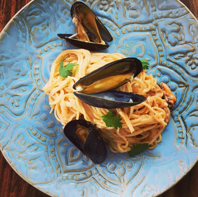 Angel Hair with Mussels in Chipotle Sauce recipe