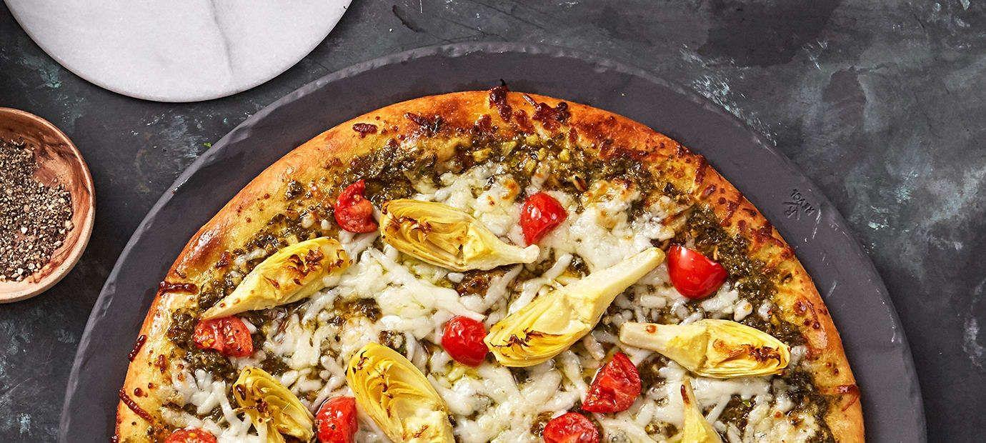Pesto Chicken Pizza recipe