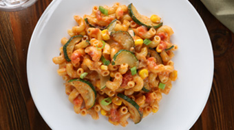 Elbows Marinara Mac & Cheese with Zucchini, Corn & Green Onion Recipe
