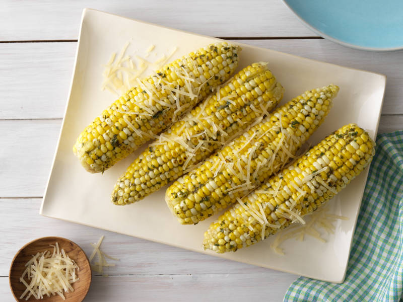 Roasted Corn with Pesto recipe