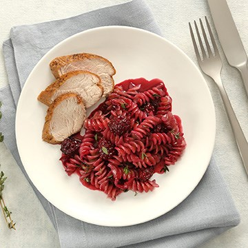 PLUS Rotini with Pork and Blackberry
