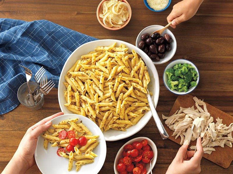 Pasta bar ideas with Penne