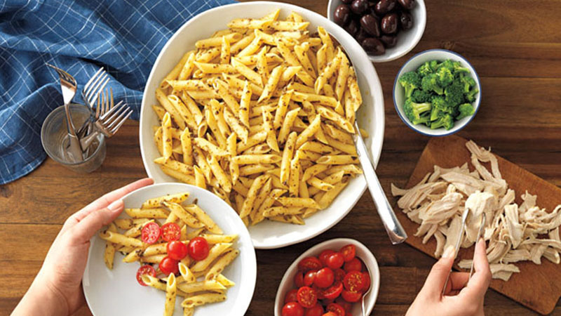 Mediterranean pasta recipe with penne pasta