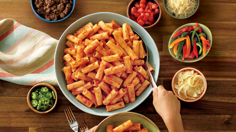 rigatoni marinara pasta bar ideas