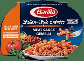 Barilla Italian Style Entree Meat Sauce Gemelli