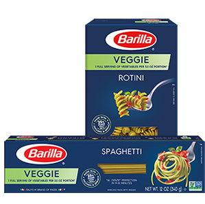Barilla veggie pasta packages