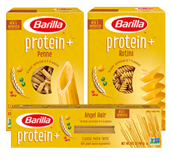 Barilla ProteinPLUS pasta packages