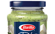 Barilla creamy ricotta and basil pesto jar