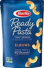 Barilla ready pasta elbows package
