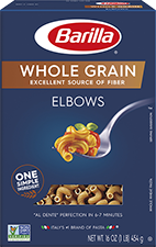barilla whole grain elbows package