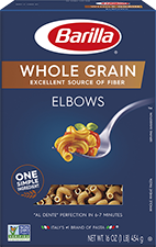 barilla whole grain elbows package