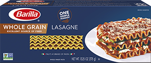 barilla whole grain lasagne package
