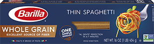 barilla whole grain thin spaghetti package
