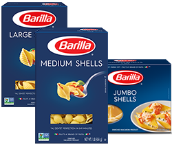 Barilla shell pasta packages