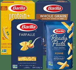 Barilla pasta boxes