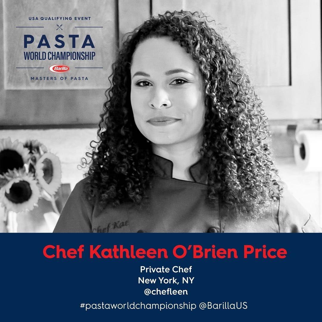Barilla Pasta World Championship Chef Kathleen O'Brien Price