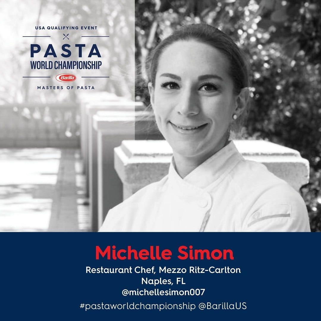 Barilla Pasta World Championship Chef Michelle Simon