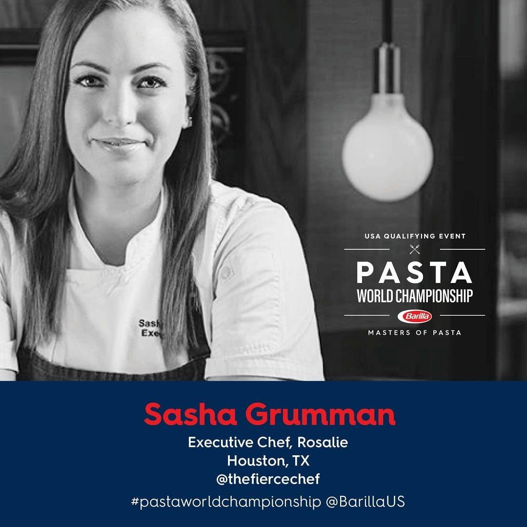 Barilla Pasta World Championship Chef Sasha Grumman