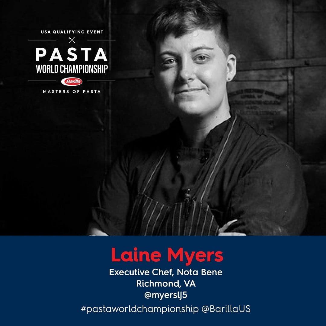 Barilla Pasta World Championship Chef Laine Myers
