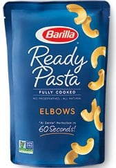 ready pasta elbows package new label removed
