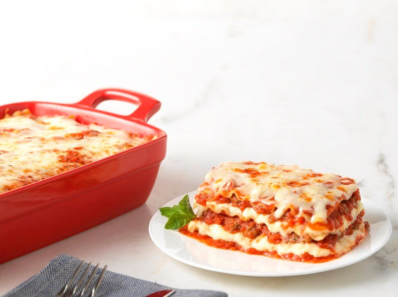 Three Layer Lasagne With Ricotta And Meat Sauce Barilla