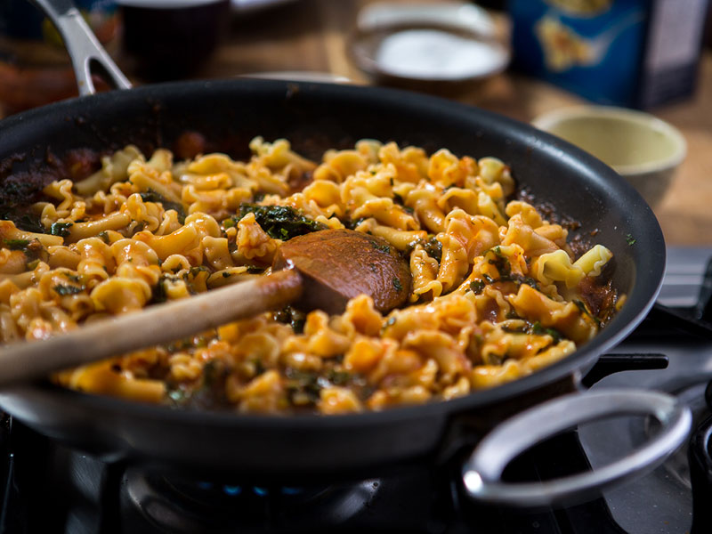 Barilla Campanelle pasta with meat sauce