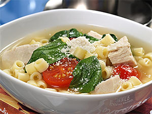 ditalini with chicken and spinach slow cooker soup