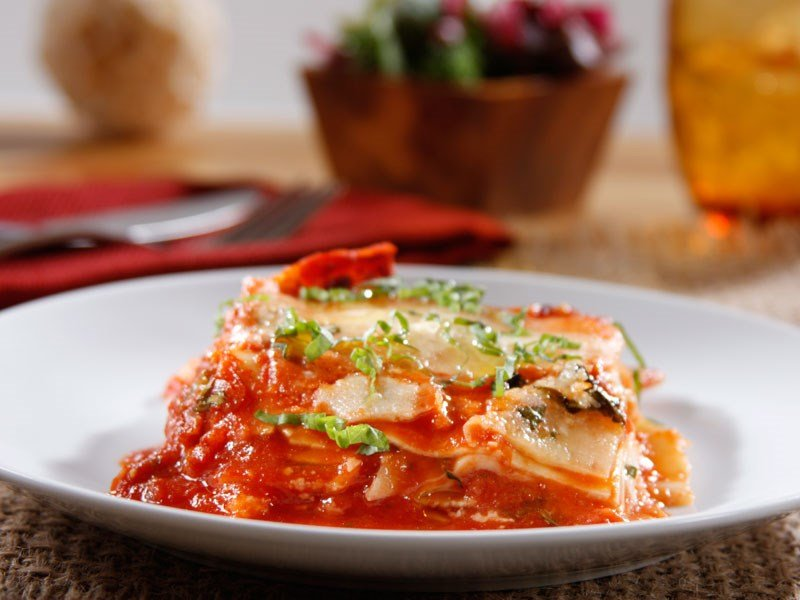 Barilla oven ready lasagna with traditional sauce