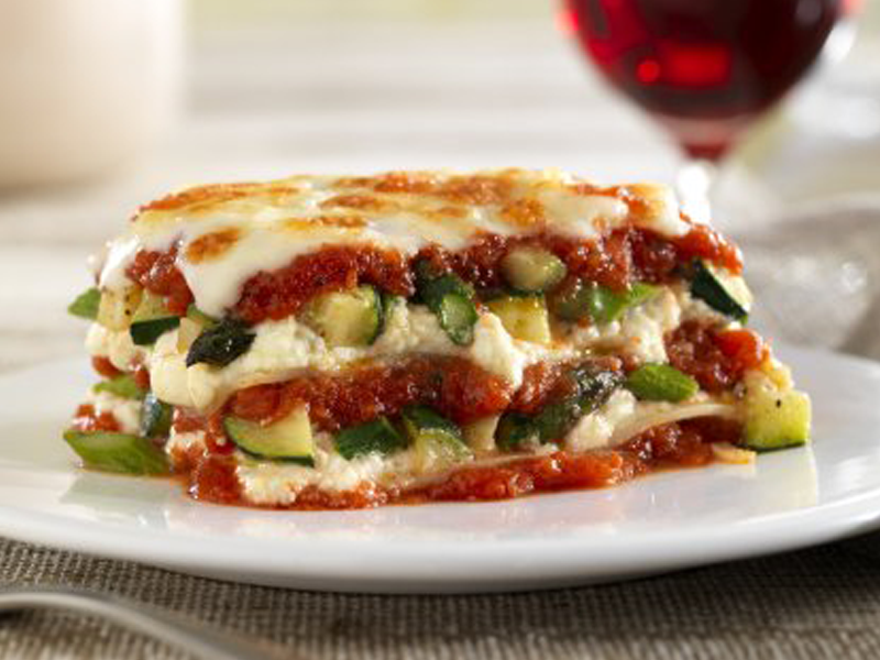 Barilla oven ready lasagna with vegetables