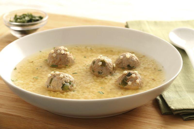Barilla Pastina Soup With Turkey Poblano Meatballs Toasted Cumin