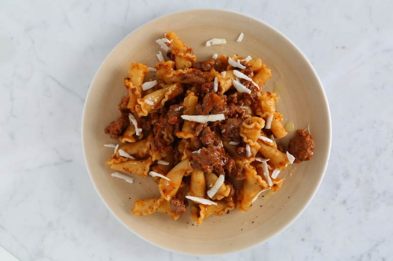 Campanelle pasta with Tuscan Ragout recipe