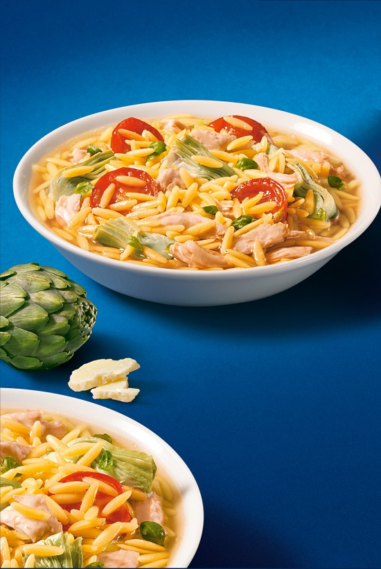 Barilla Orzo Soup With Chicken Carrots Spinach