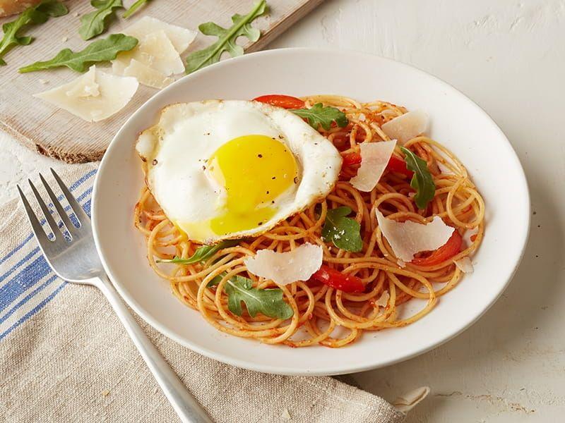 barilla spaghetti with eggs