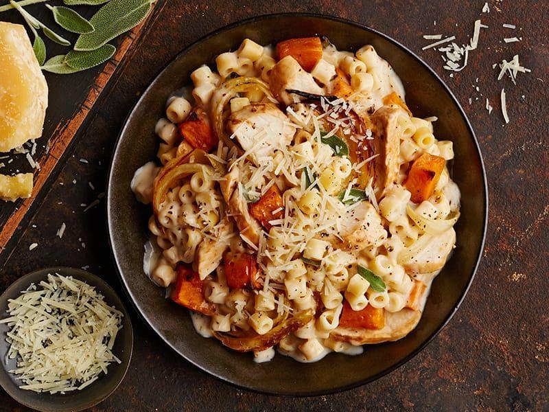 barilla pasta with sweet potato chicken alfredo