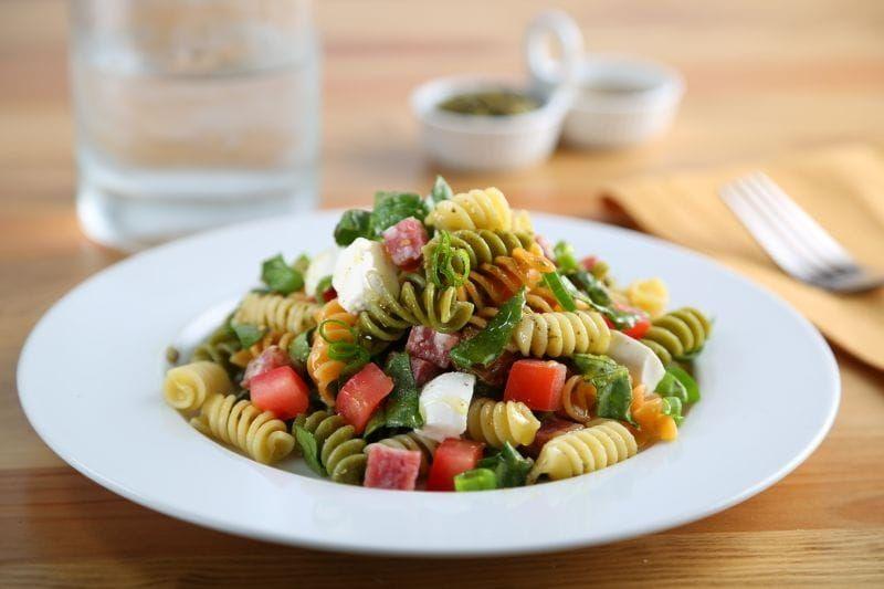 barilla tricolor rotini pasta summer pasta salad