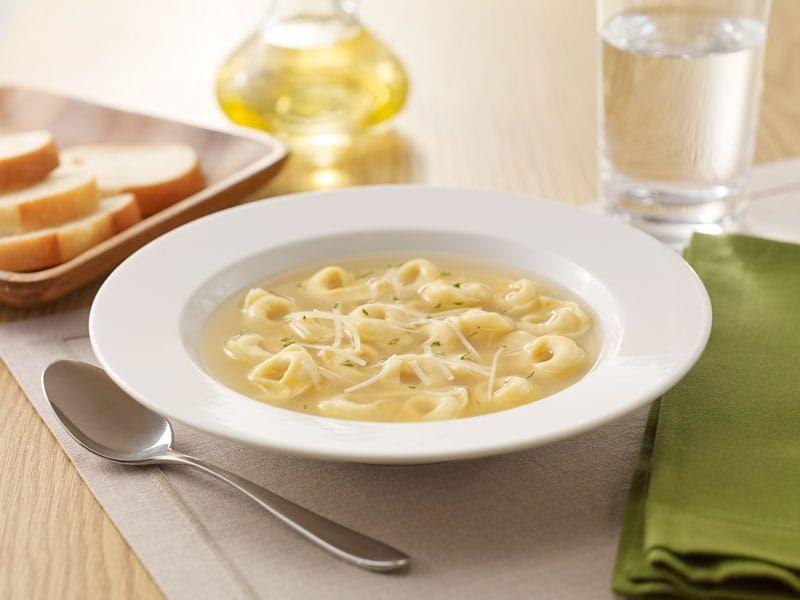 Barilla Collezione three cheese tortellini soup