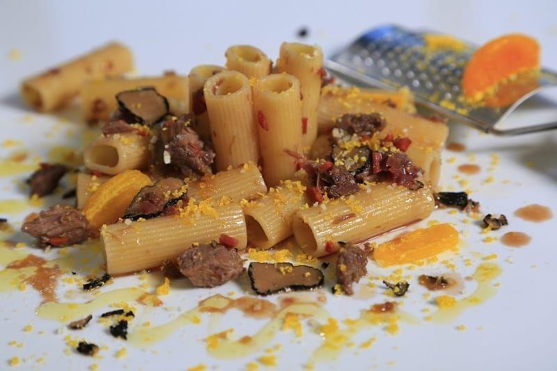 Barilla Collezione rigatoni with short ribs and cured yolk recipe