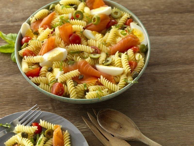 Barilla gluten free lox pasta salad
