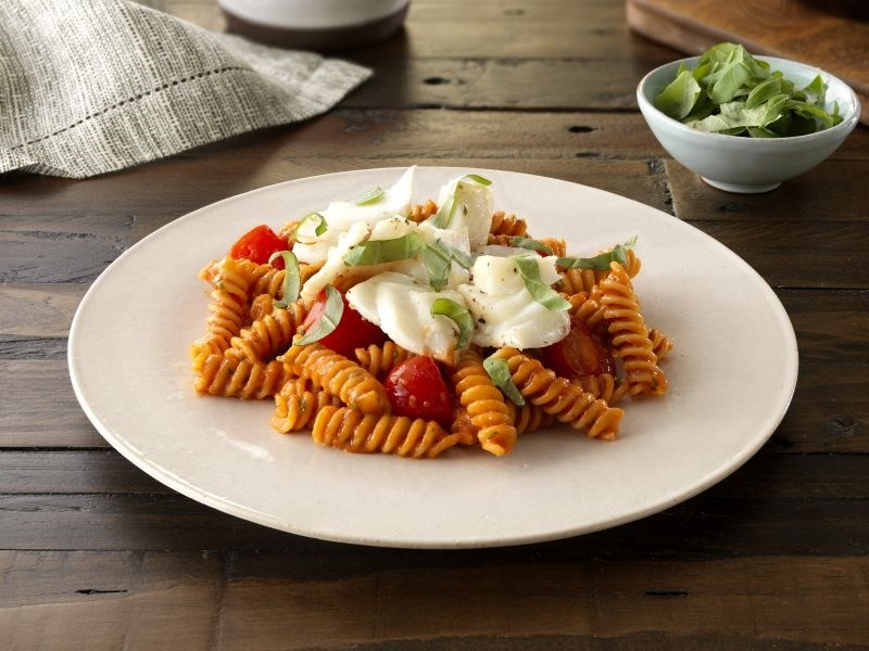 Chickpea Rotini with Halibut