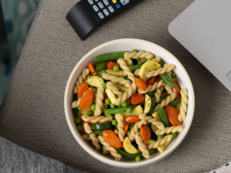 Ready Pasta Gemelli recipe with mixed vegetables